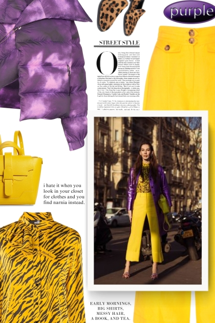 street style - purple puffer