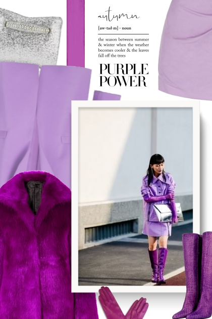Fall 2019 - purple power- Fashion set
