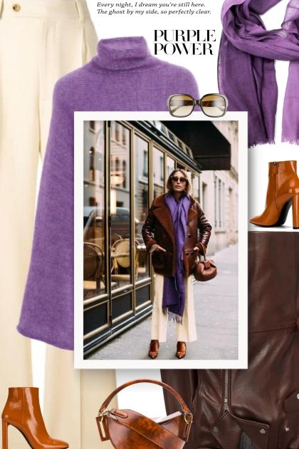 Trend Scarf-purple Scarf- Fashion set