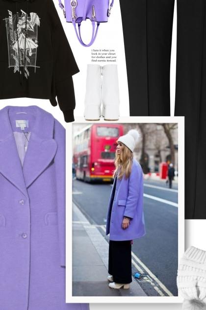 Pretty Purple Coat - Creative Winter Outfit Ideas