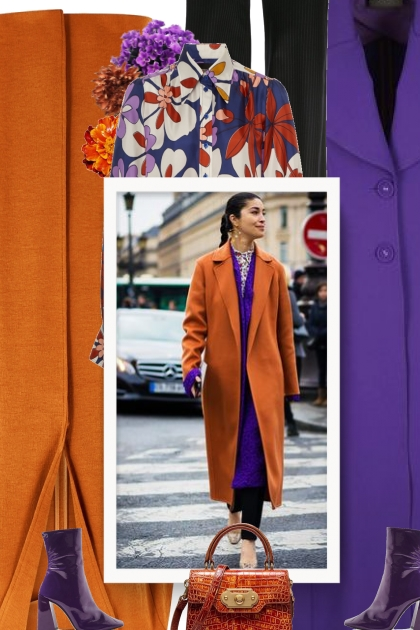 Fall -How to combine purple coats on your outfits