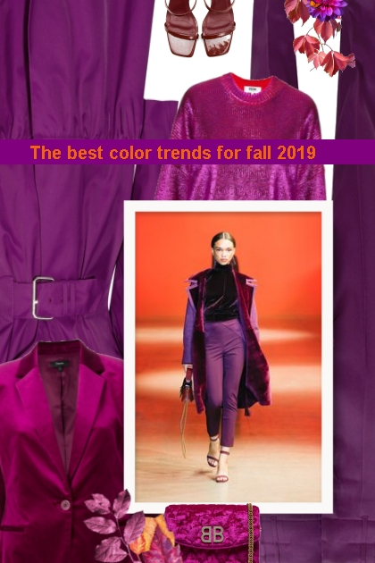 Purple - The best color trends for fall 2019