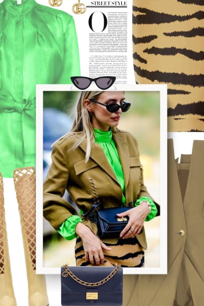 Fall 2019 - green and beige- Combinazione di moda