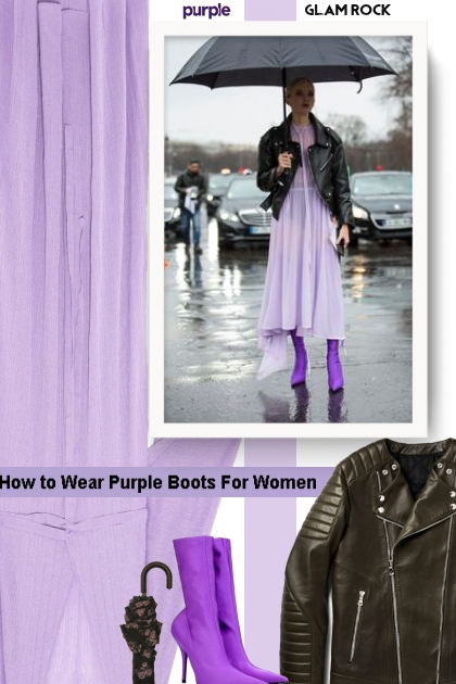 How to Wear Purple Boots For Women- Combinazione di moda