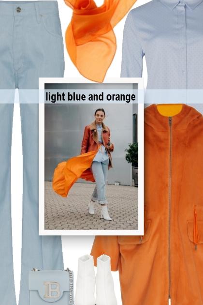 light blue and orange