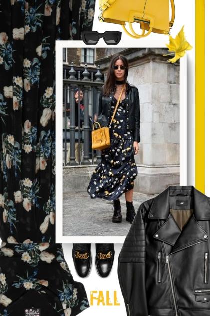 Fall - floral dress