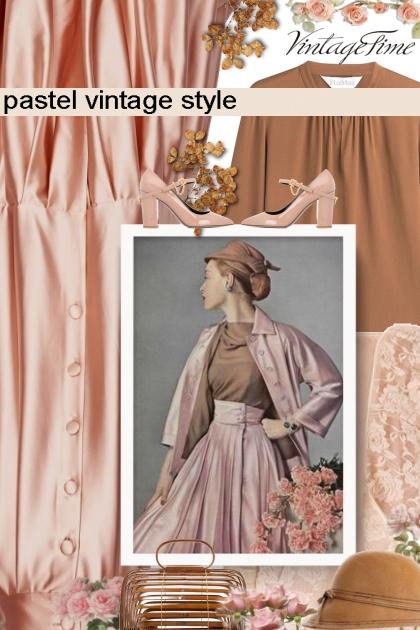 pastel vintage style