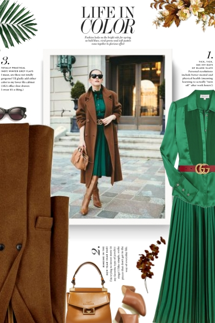 Fall/Winter - green and brown