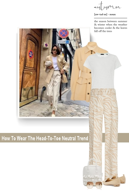 How To Wear The Head-To-Toe Neutral Trend