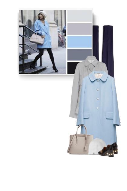 Fall 2019 - light blue coat
