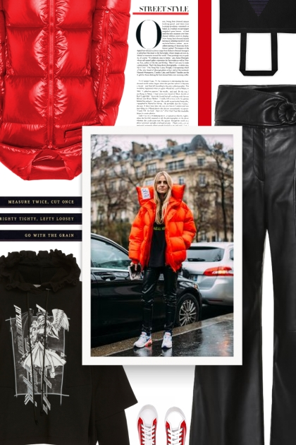 Red Puffer Jacket | Fashion | Fashion, Outfits