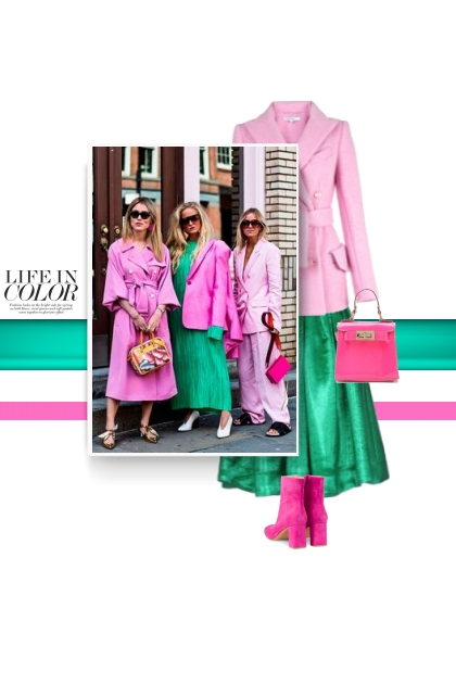 Pink and green - life in color