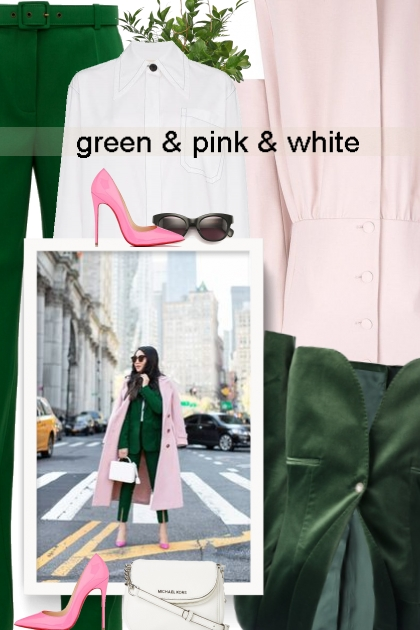 green & pink & white