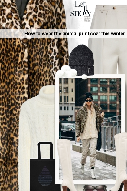 How to wear the animal print coat this winter ...