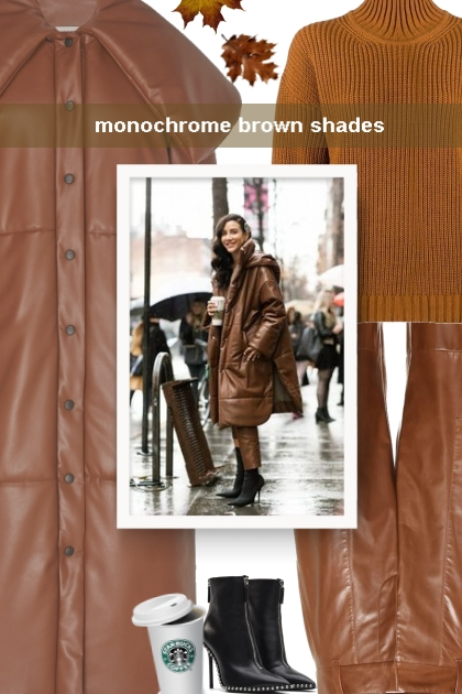monochrome brown shades