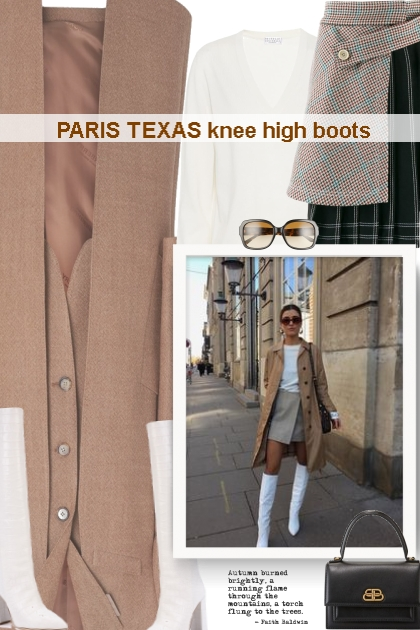 PARIS TEXAS knee high boots