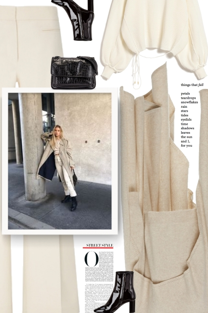 Beige and black- Fashion set
