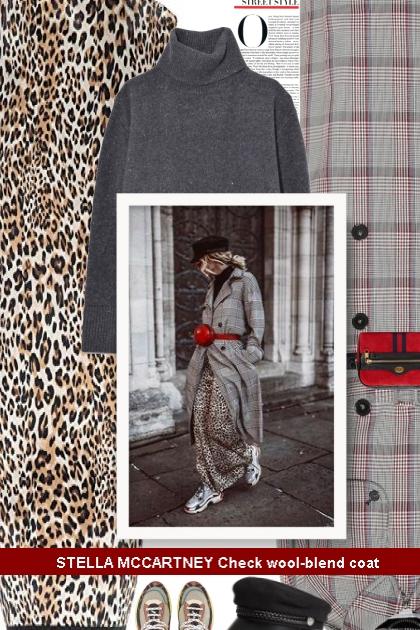 STELLA MCCARTNEY Check wool-blend coat - Fashion set