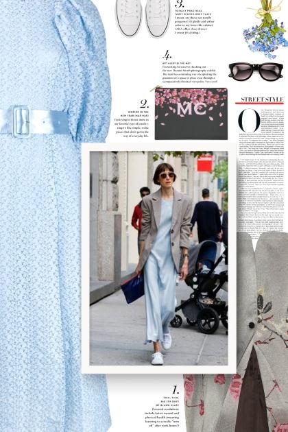 ROTATE puffer-sleeve lace dress