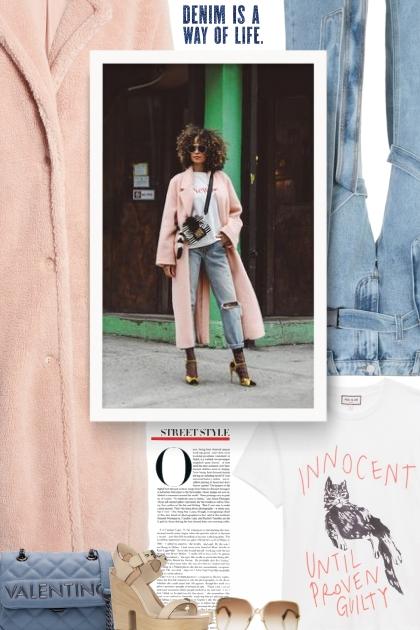 denim and peach- Combinaciónde moda