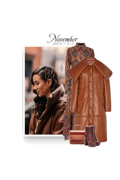 leather puffer coat