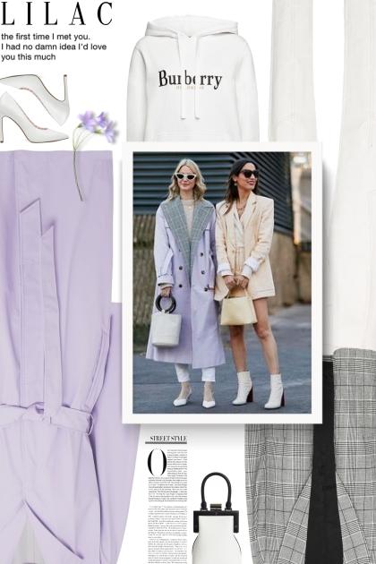 lilac, white and grey- Combinaciónde moda