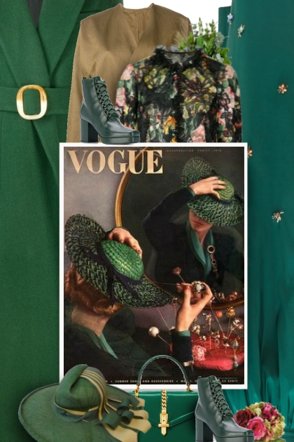 Vogue - green vintage