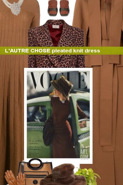 L'AUTRE CHOSE pleated knit dress