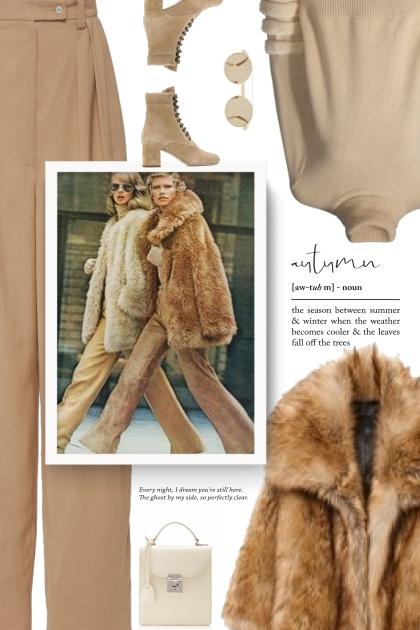 Vintage Style - Faux Fur Coat