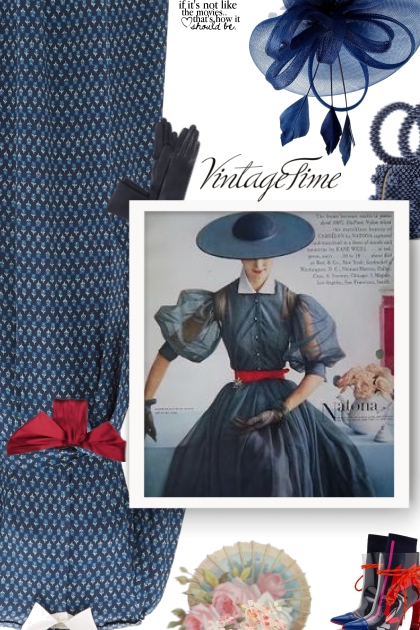 Navy and red - vintage time