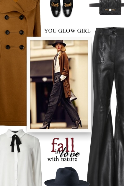 GUCCI Flared-leather pants