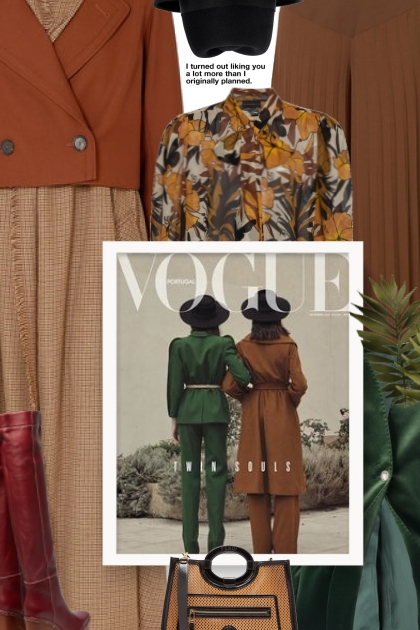 Fall 2019 - brown and green- Fashion set