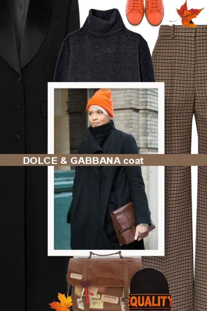 DOLCE & GABBANA coat- combinação de moda