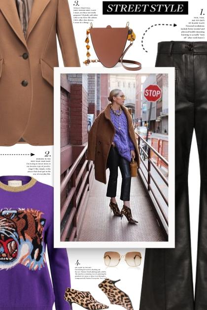 STELLA MCCARTNEY leopard-print ankle boots- Modna kombinacija