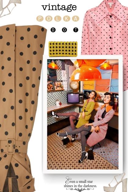 vintage fashion - polka dots
