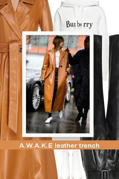 A.W.A.K.E leather trench