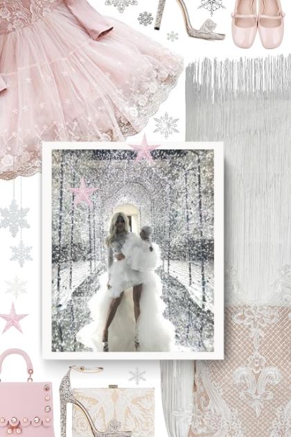 White Round Neck Lace Fringed Decorative dress