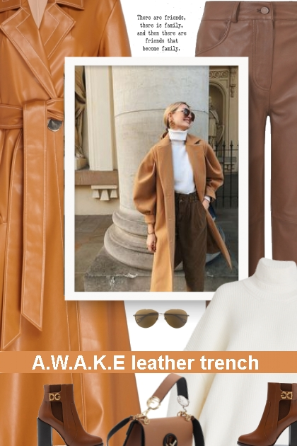 A.W.A.K.E leather trench - winter 20