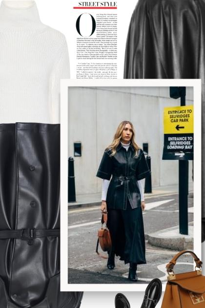 MAISON MARGIELA faux leather trench coat