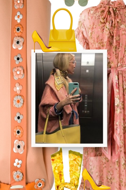 Peach and yellow