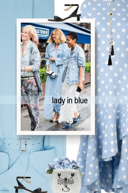 lady in blue - spring 20