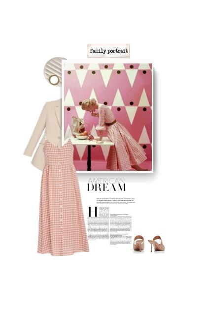 MANSUR GRAVIEL gingham linen dress