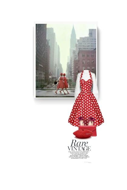 Retro Red Polka Dot Dress