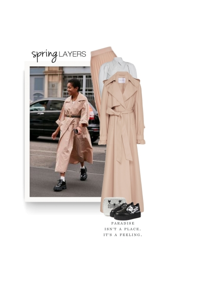 leather trench - spring 20