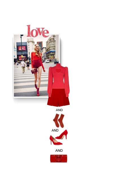 Monochrome Icon Style / Red 2020- Fashion set