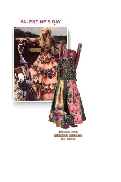OSCAR DE LA RENTA floral skirt