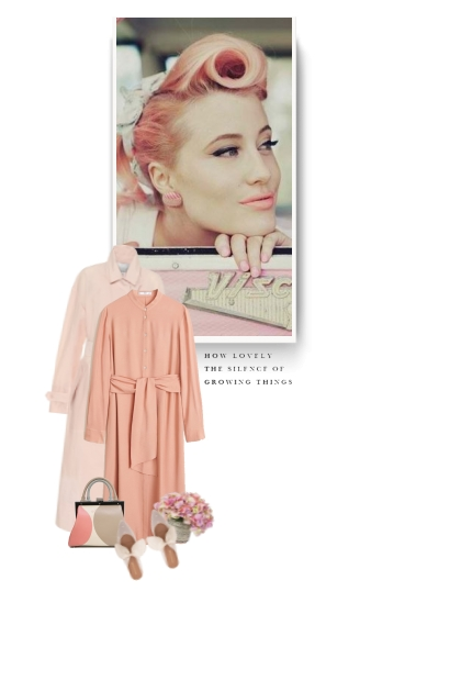 vintage style - peach and pink