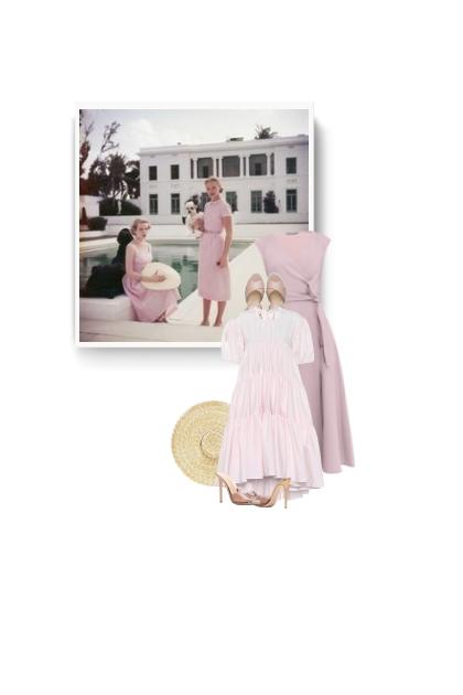 Vintage style - pink summer