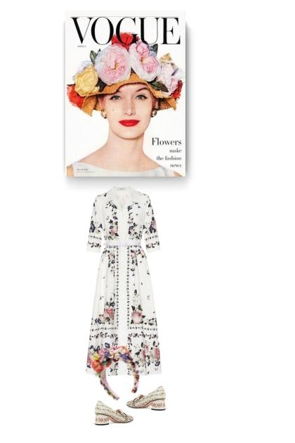 Flowers make the fashion news