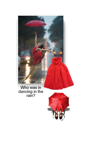 Who was in dancing in the rain?